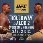 Cartelera y Horario del UFC 218