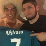 Cristiano Ronaldo se reunió con Khabib Nurmagomedov para intercambiar regalos