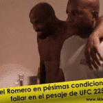 Video: Yoel Romero quedó en pésimas condiciones tras su fallido corte de peso