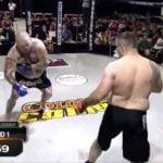 Video Viral: Simuló lesión para luego realizar el mejor contragolpe de las MMA, pero se rindió