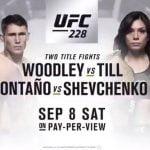 Cartelera y Horario de UFC 228