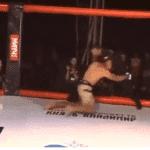 Video: Árbitro logró defender un ataque y demostró sus virtudes en las MMA