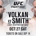 En Vivo: Sigue todos los detalles del UFC Fight Night: Volkan vs. Smith