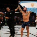 Video: Santiago Ponzinibbio noqueó ante su gente y desató la algarabía en UFC Argentina