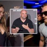 Ronda Rousey y Dana White se refieren al retiro de Conor McGregor