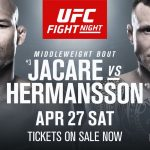 Cartelera y Horario: UFC Jacare vs. Hermansson invaden Florida