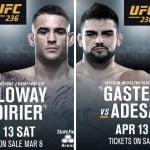 Cartelera y Horario del UFC 236