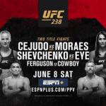 Horario del UFC 238: El regreso de Cejudo y Shevchenko más el enfrentamiento entre Ferguson vs Cerrone