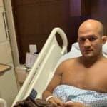 Así quedó la pierna de Junior dos Santos tras sufrir infección por estafilococo