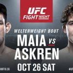 Este sábado en un madrugador horario se llevará a cabo el UFC: Maia vs Askren