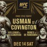 Horario del UFC 245, el último super evento del año