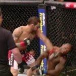 El primer KO en UFC de Santiago Ponzinibbio