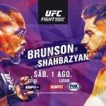 Cartelera y Horario del primer evento de UFC de agosto