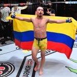El colombiano Daniel Chavez debutó a lo grande en UFC