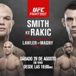 Cartelera y Horario de UFC Vegas 8: SMITH VS. RAKIC
