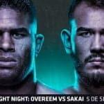 Cartelera y Horario: Alistair Overeem vuelve a UFC