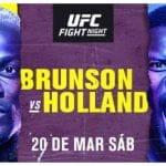 Cartelera y Horario de UFC Vegas 22