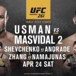 Cartelera y horario de UFC 261: Usman vs Masvidal