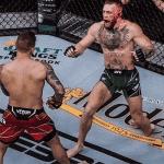 Video: Conor McGregor se fractura la pierna solo y Dustin Poirier gana la trilogía