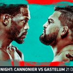 Horario y Cartelera del UFC on ESPN: Cannonier vs. Gastelum
